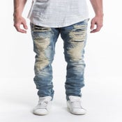 Image of DENIM RIPPED JEANS NYC