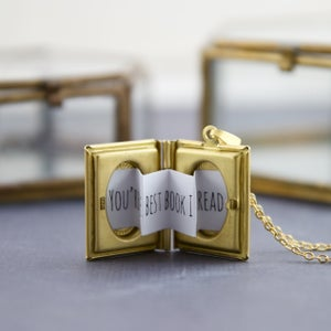 Image of Biblos - Personalised Secret Message Book Locket