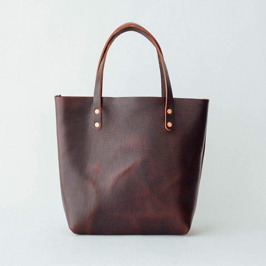 Image of Chocolate Horween Chromexcel Tote