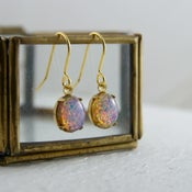 Image of Fotia - Oval Fire Opal Earrings