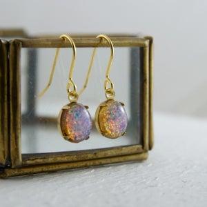 Image of Fotia - Oval Fire Opal Earrings