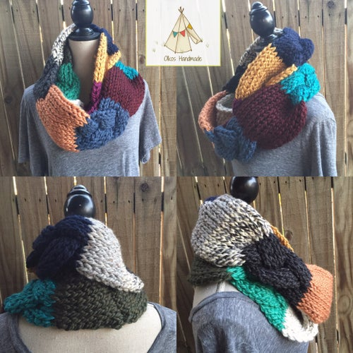 Image of Scrappy Zip-It Cowl or Scrappy Braided Infinity Scarf