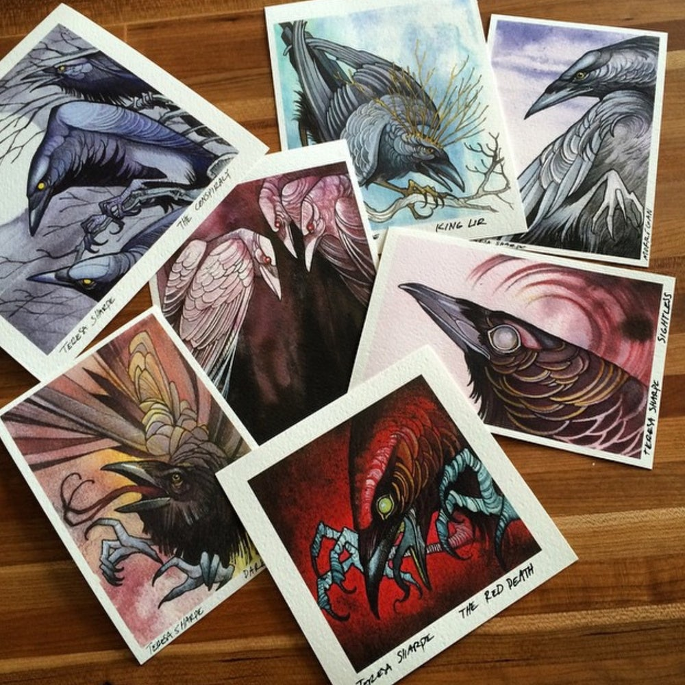 Image of ONLY ONE REMAINING!!! The Corvid Collection  --- (Full 7 piece set)