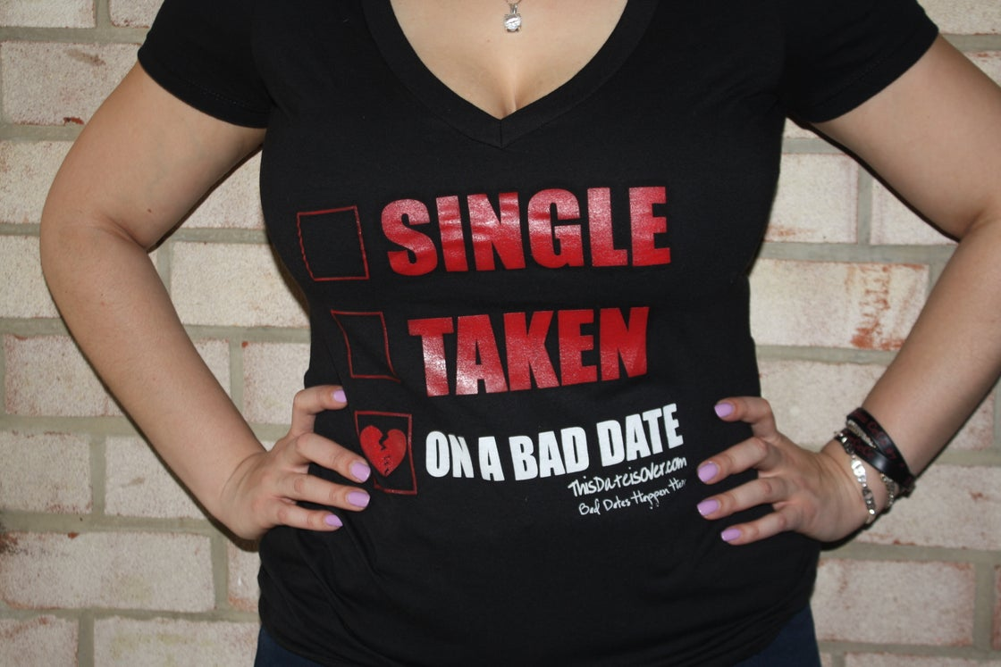 Image of On A Bad Date Deep V - Ladies