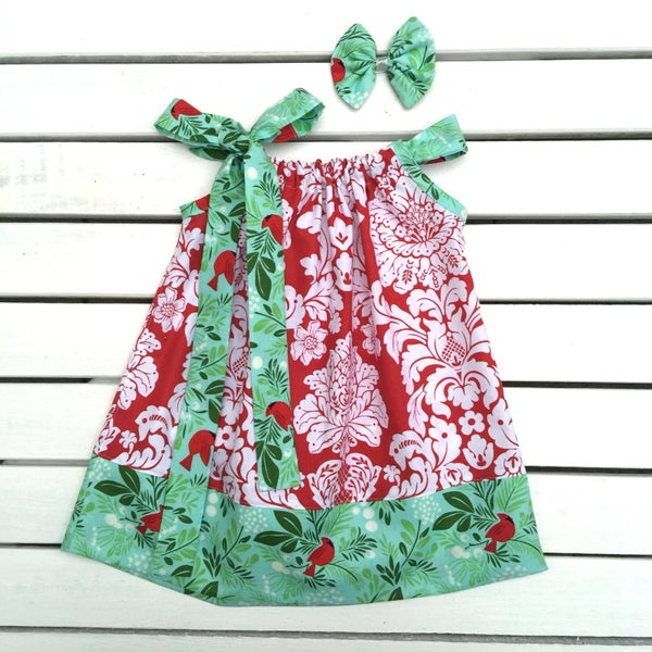 Image of Christmas Red Dove Dress