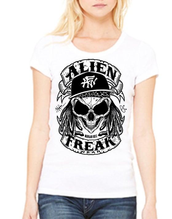 Image of AFW Freak 'Skull' White Women's Tee