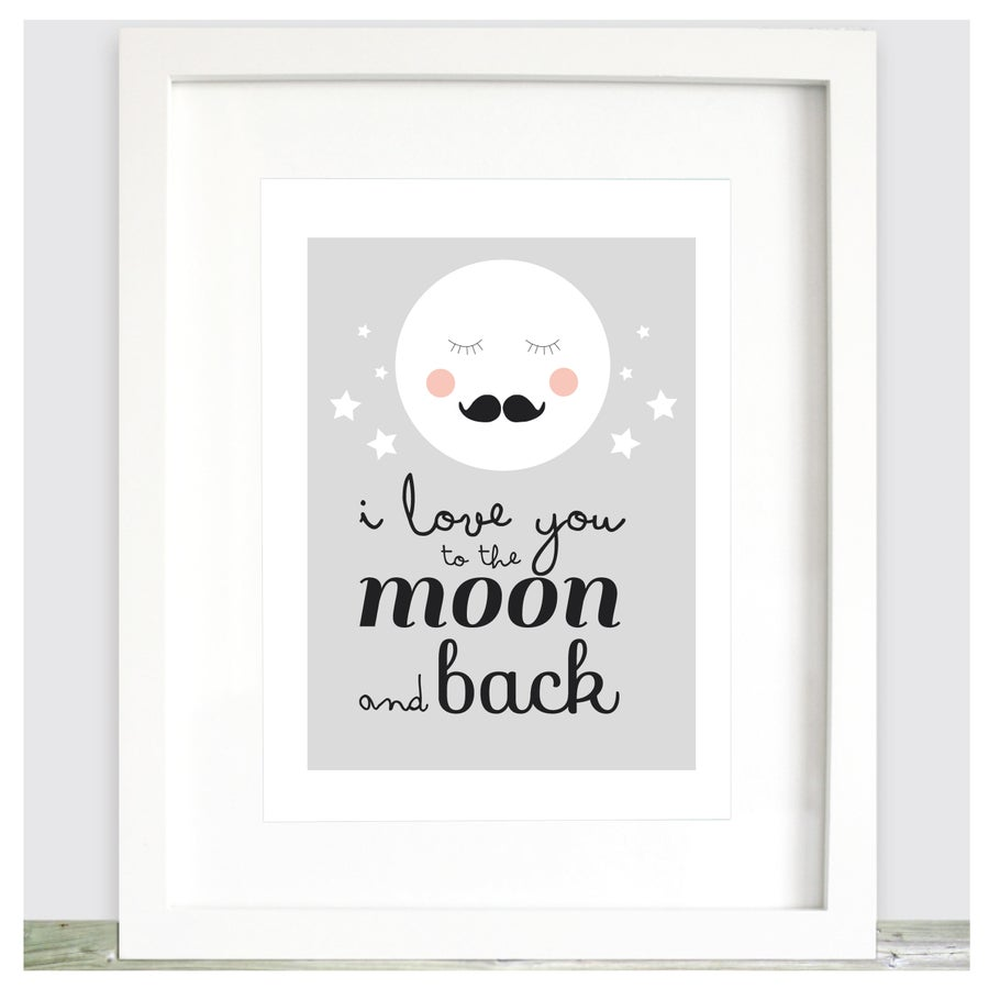 Image of Lámina Love you to the moon