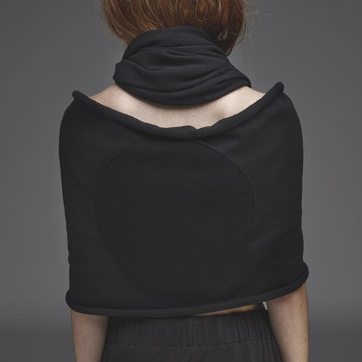 Image of GREY LABEL LUNAR COWL SCARF IN FULL ECLIPSE BLACK ON BLACK