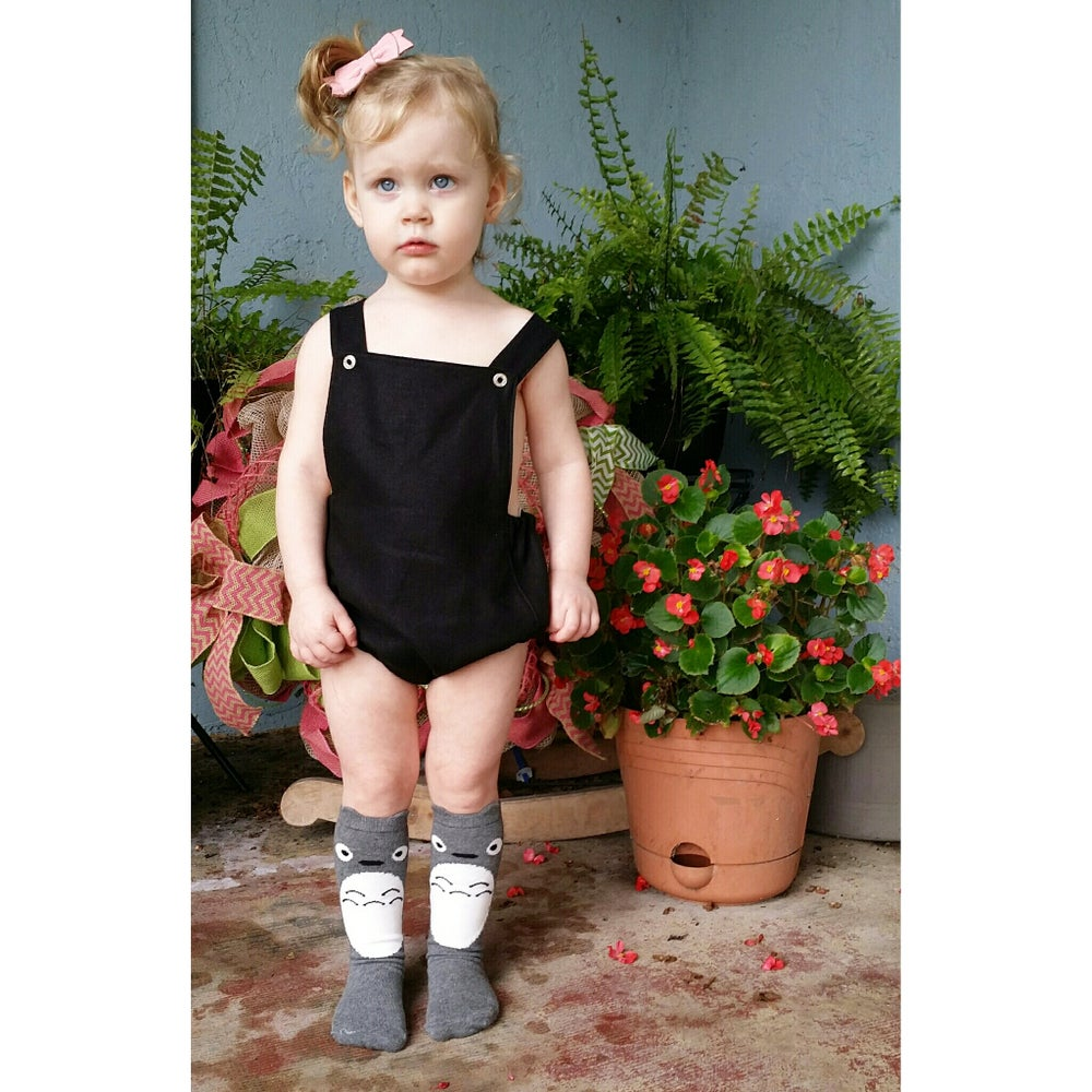 Image of Black Linen romper
