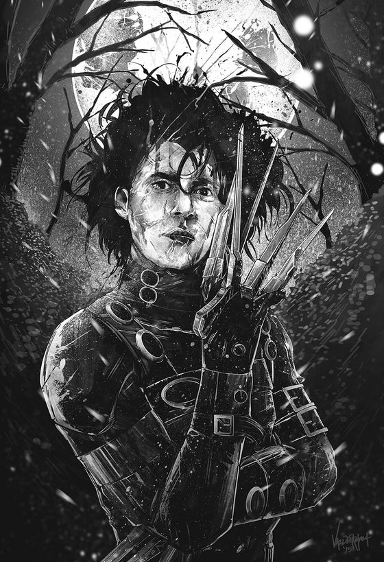 "Image of ""Monochrome"" - Inspired by Edward Scissorhands"