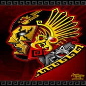 Image of Azteca Luchador Print