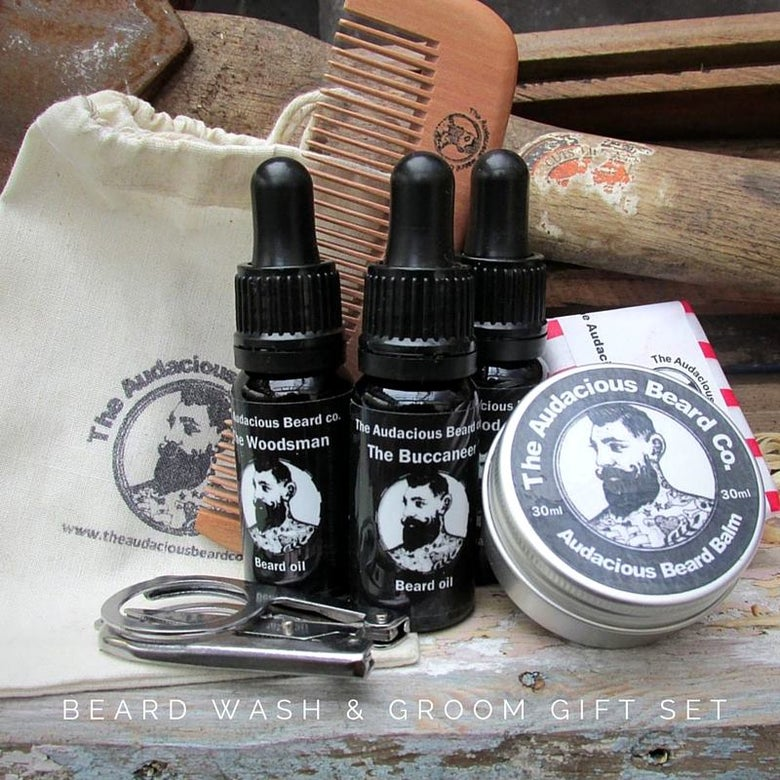 Image of Beard Wash & Groom Gift Set - The Audacious Beard Co