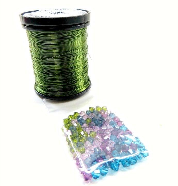 Image of Wire & Crystal Starter Kit - Art Nouveau/Green plus bonus pattern