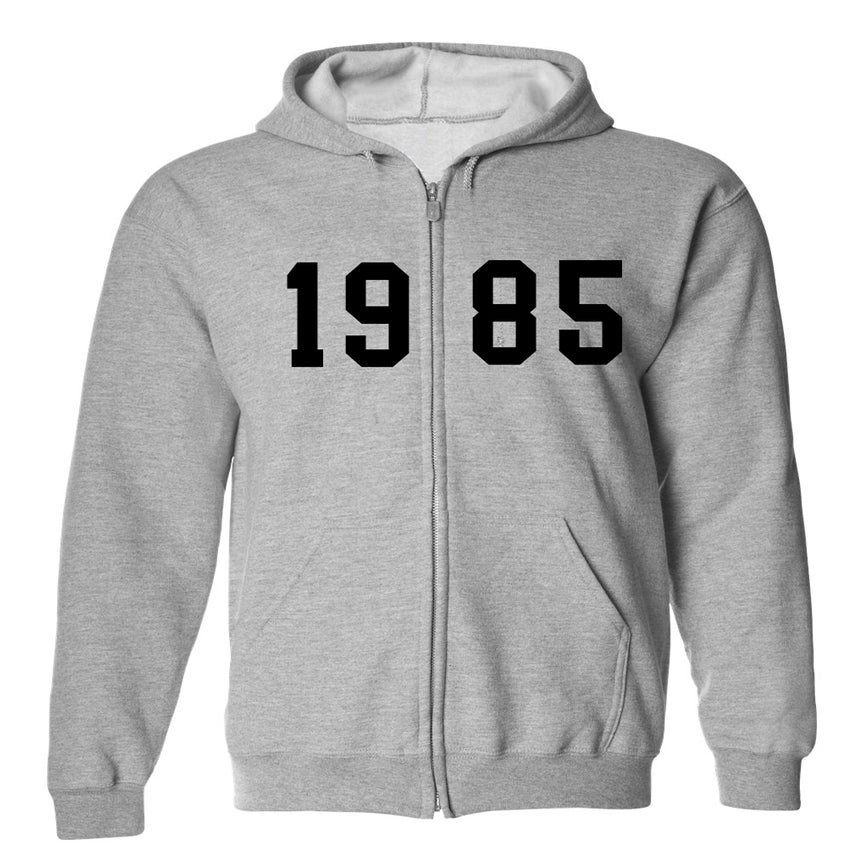 "Image of ""85"" Fleece Zip Up - Grey"