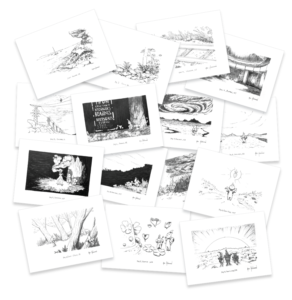 Image of Projecting West Location Sketch Miniprints