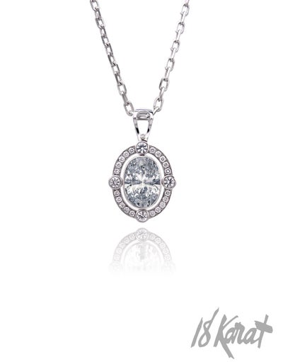 Fern's Zircon + Diamond Pendant - 18Karat Studio+Gallery