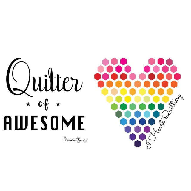 Image of I Heart Quilting Sticker Set of 2