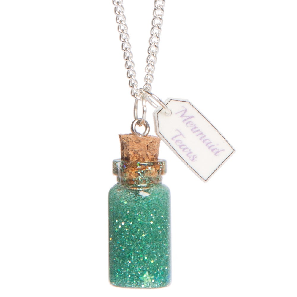 Image of Mermaid Tears Bottle Necklace