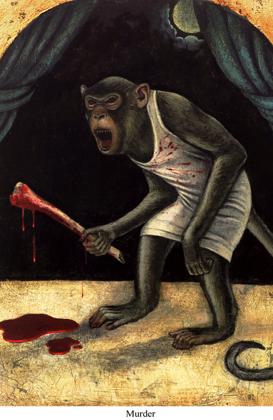Image of Canvas Giclee- Murder
