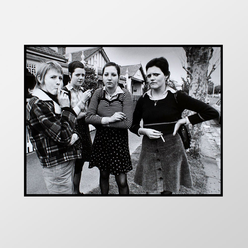 Image of Girl 'Sharpie' gang, St.Kilda West, 1975 – Limited edition of 100