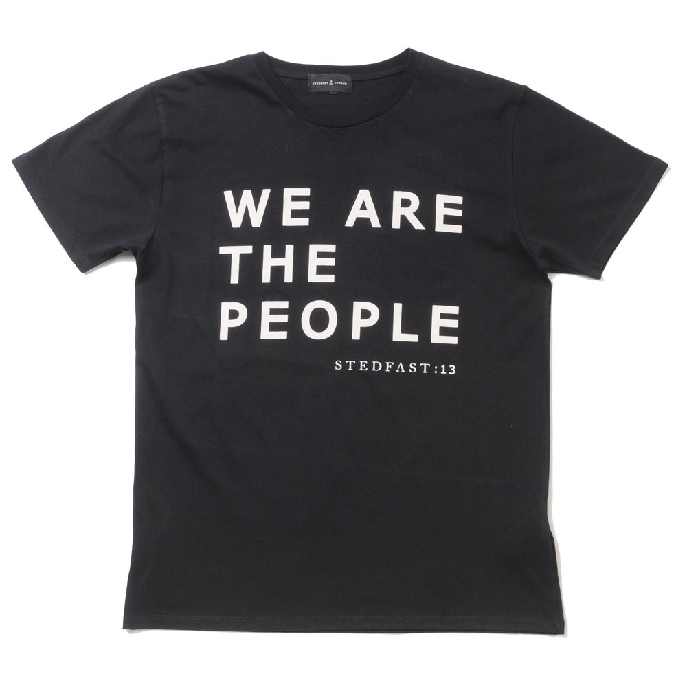 Image of We Are The People black T-shirt
