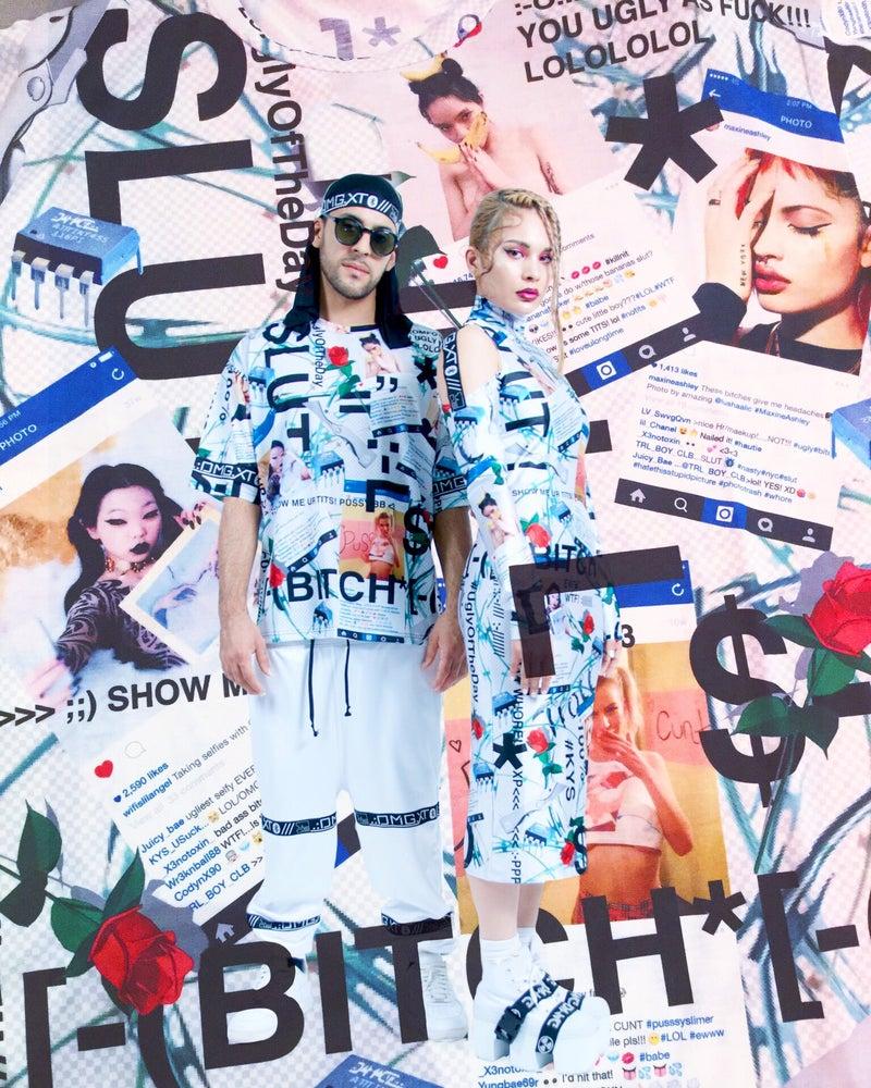 Image of DVMVGE KY$' 182 Full-Print Big Tee