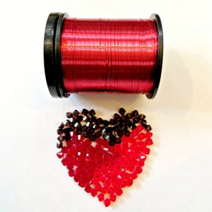 Image of Wire & Crystal Starter Kit - Sweetheart/Red plus bonus pattern