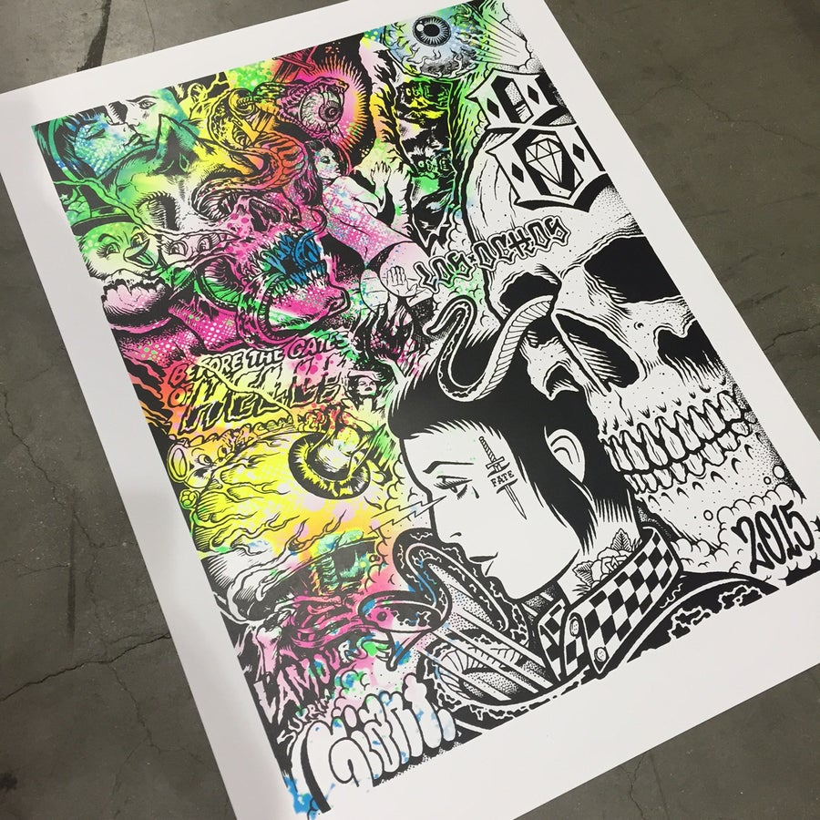 Image of LAmour Suprim X Mike Giant print