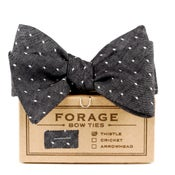 Image of black dot {bow tie}