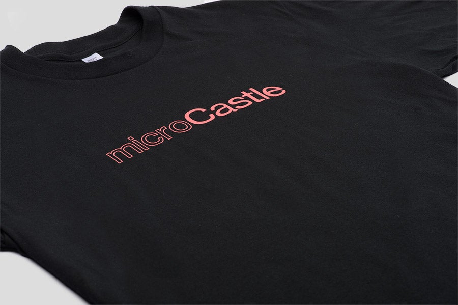 Image of microCastle Classic Outline T-Shirt Black