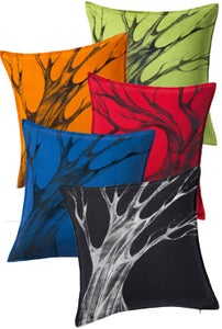 Image of Custom Painted Tree Throw Pillow Cover -All Colors-