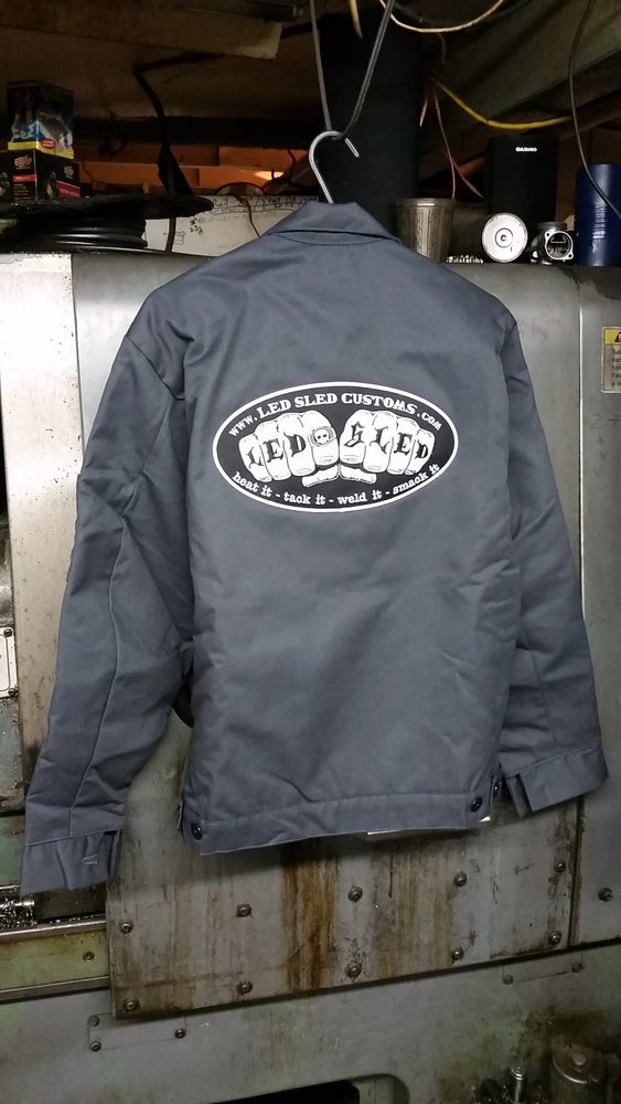 Image of WORK COAT- KNUCKLE LOGO w/HERO PATCH