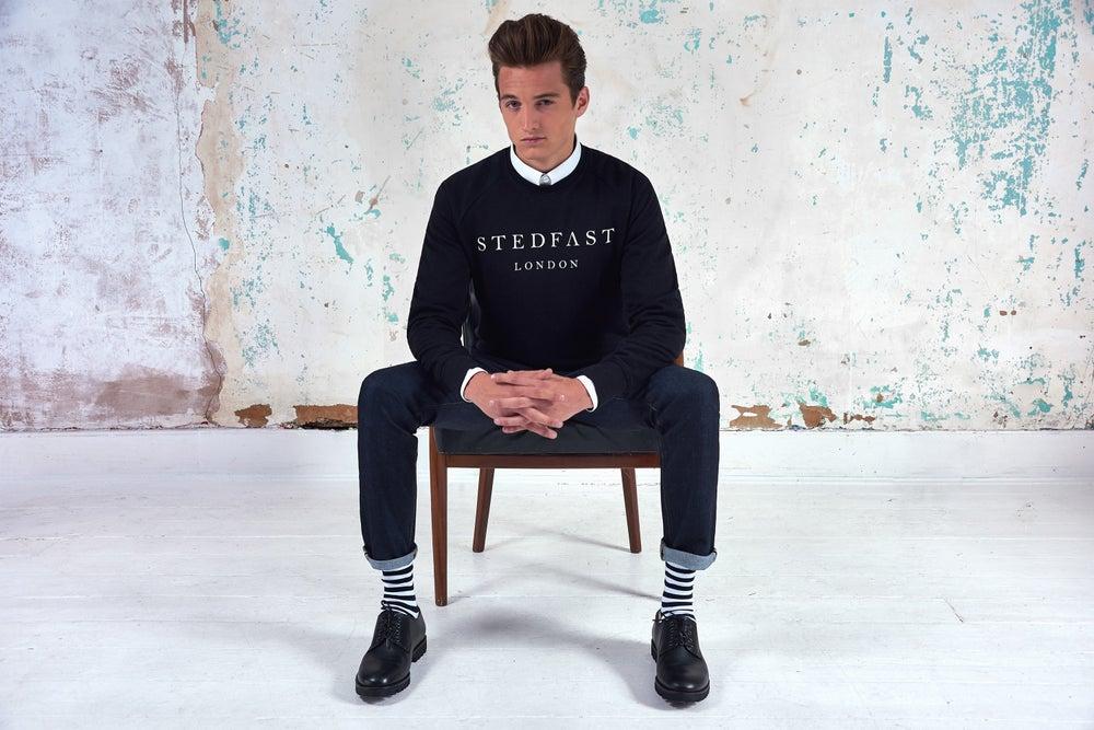 Image of Mens Stedfast black Sweatshirt