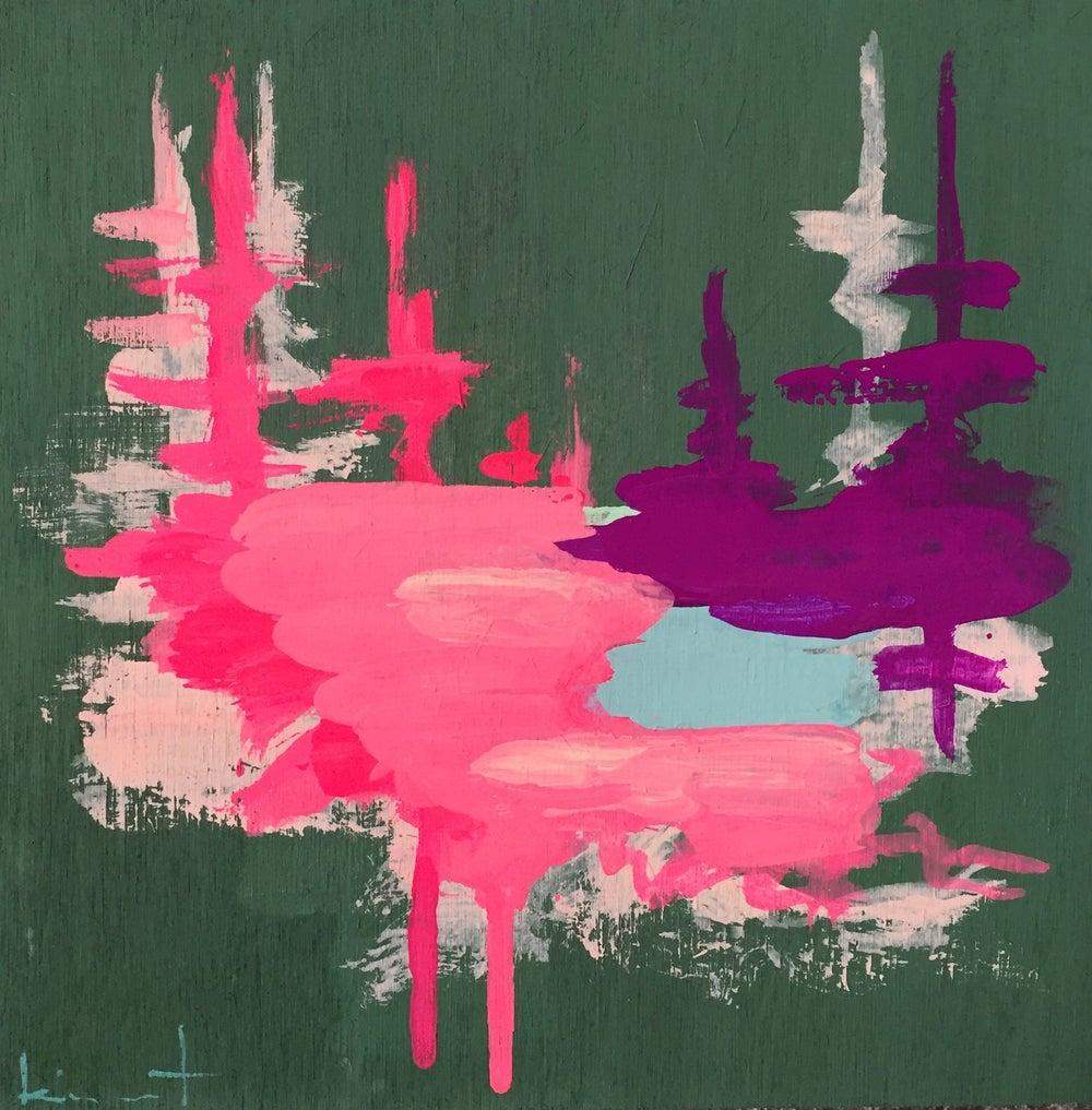 Image of tiny painting no. 34 (pine, opera, violet)