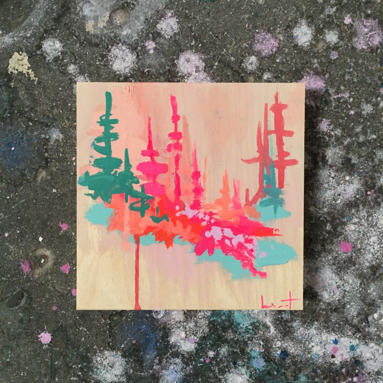 Image of tiny painting no. 37 (shell, tangerine, gulf, opera)