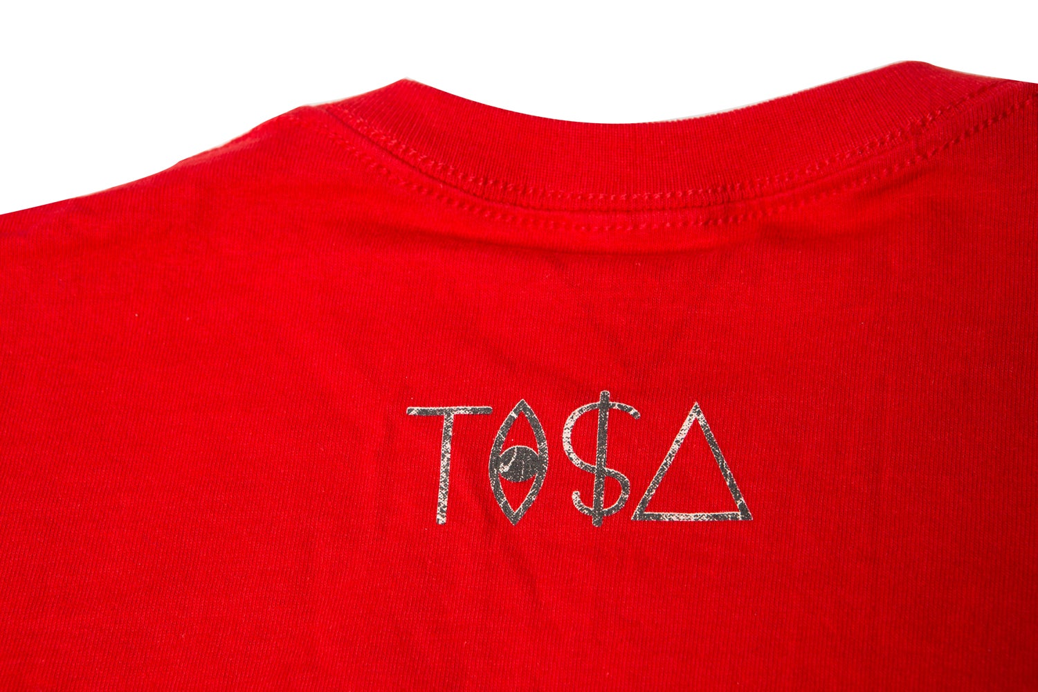 Image of TI$A SNAKESKIN LOGO RED T-SHIRT