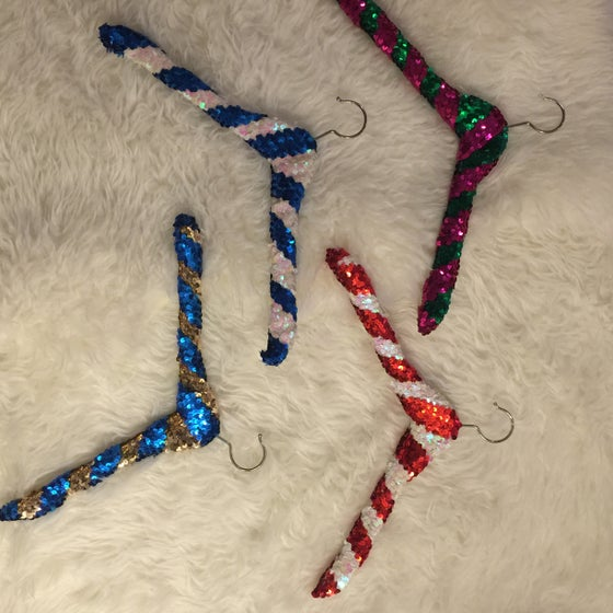 Image of Two stripped Sequin Hangers