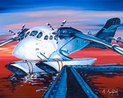 Image of Twin Otter at Sunset 8x10 Photographic Print