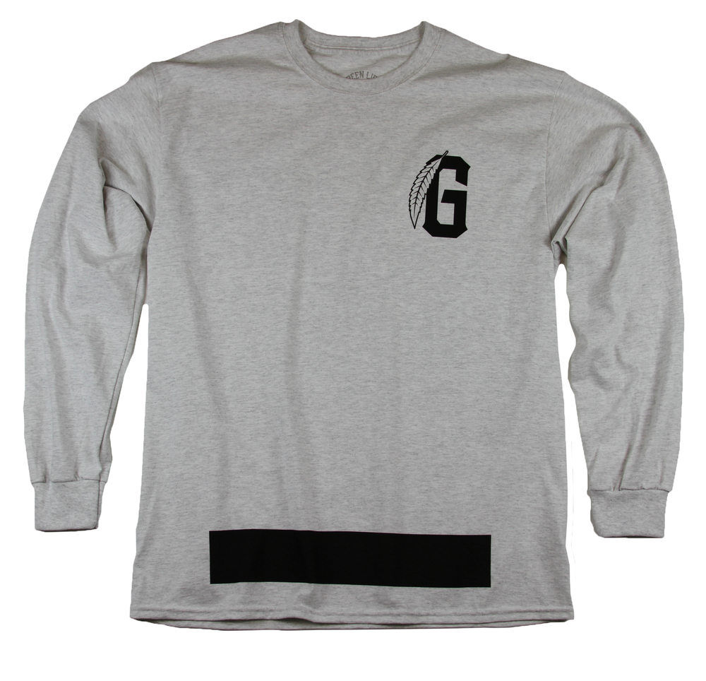 Image of The G Leaf Long Sleeve Tee in Ash