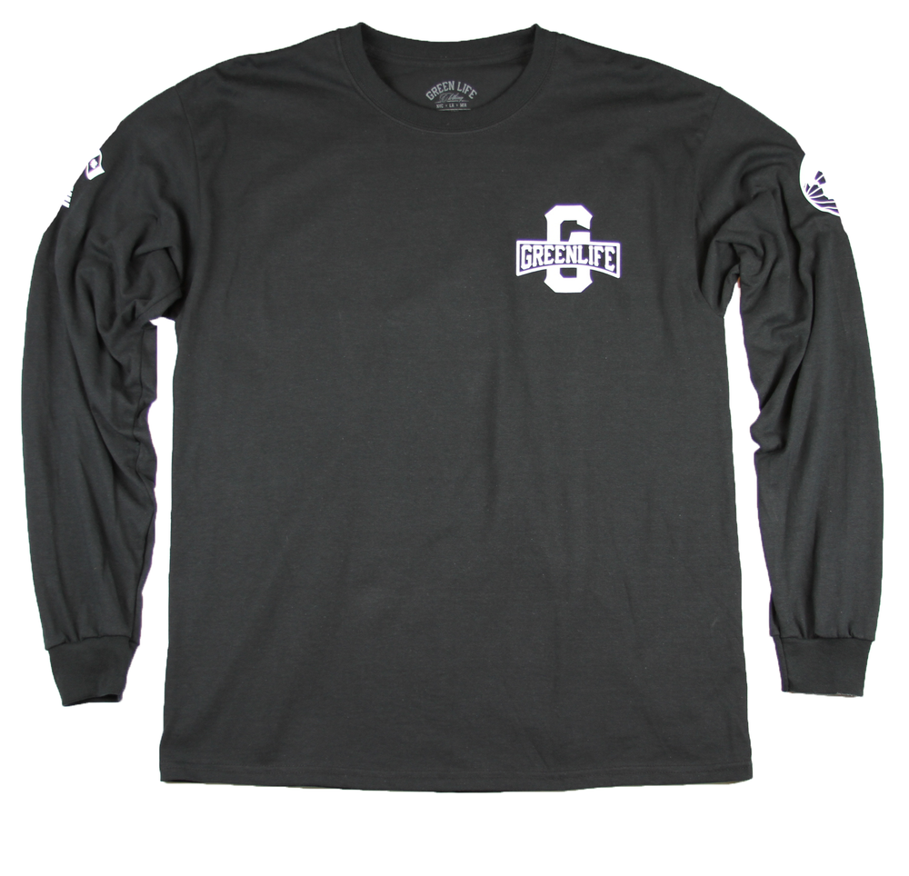 Image of The Worldwide G Long Sleeve Tee in Black