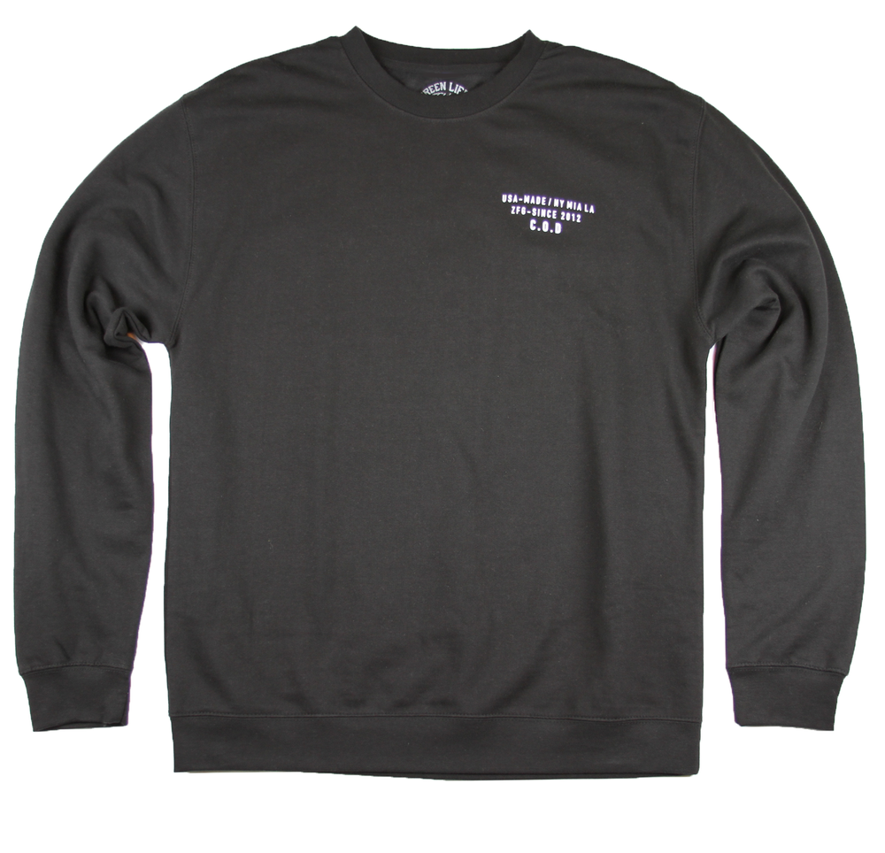 Image of The COD Crewneck Sweater in Black