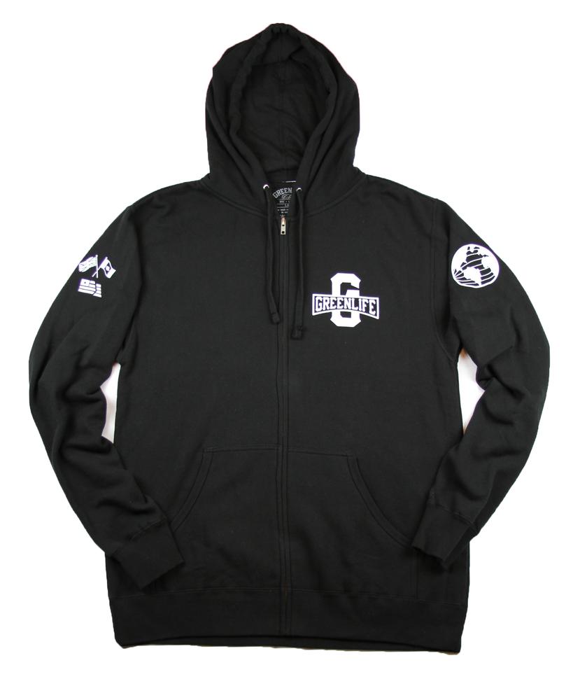 Image of The Worldwide G Zip Up Hoodie Hoodie in Black