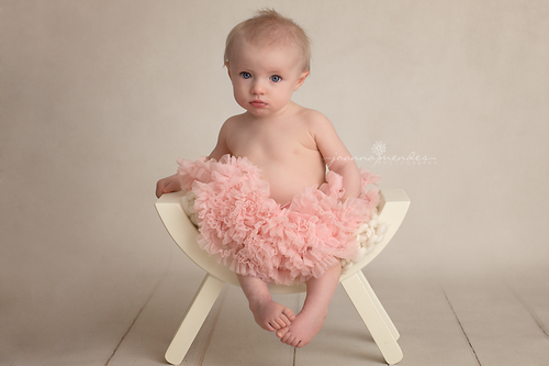 Image of Wooden stool, curved bench newborn baby photography prop
