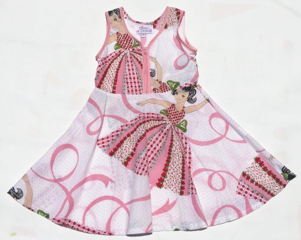 Image of Size 2 'Vintage Twirl' Dress - dancing girl