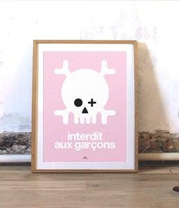 Image of Affiche Keep out garçons