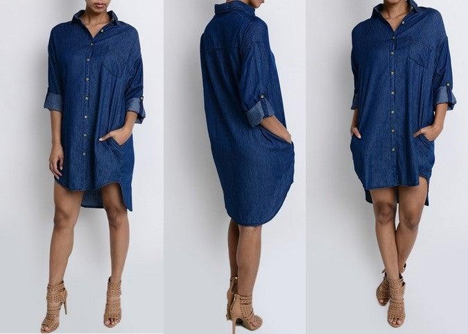 Image of Andie Denim Dress