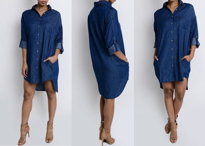 Image of Andie Denim Dress