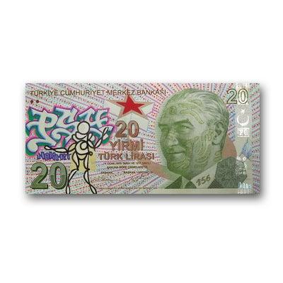 Billet de banque turc - PSY la boutik