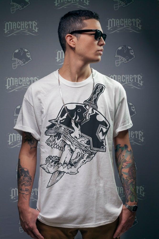 "Image of Machete "" Classic Logo ""  T-shirt white"