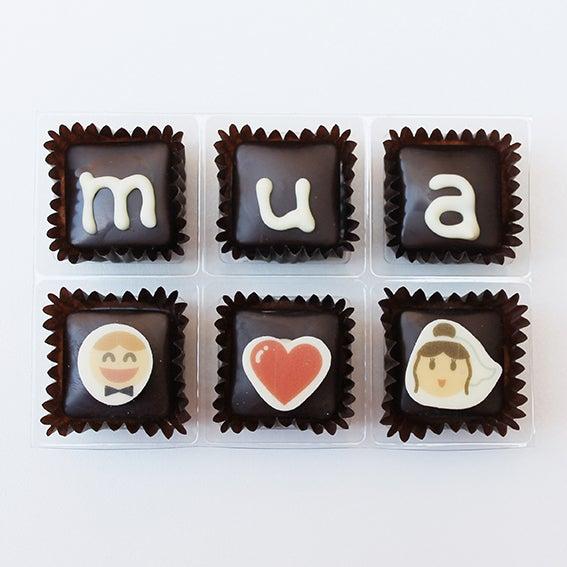 """Image of Xocowhats, missatge de xocolata: """"mua"""" casament"""